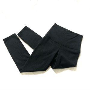 Lululemon gray wunder under cropped leggings